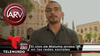 Joven mexicano es un clon de Maluma | Al Rojo Vivo | Telemundo