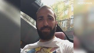 El divertido video de Higuaín CANTANDO REGGAETON