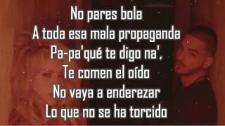 Chantaje LETRA - Shakira Ft Maluma