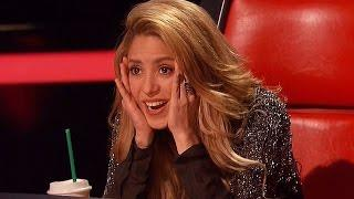 A handsome man surprised Shakira in The Voice 2016